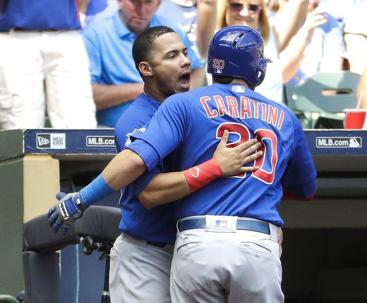 Caratini connects as Cubs beat Brewers