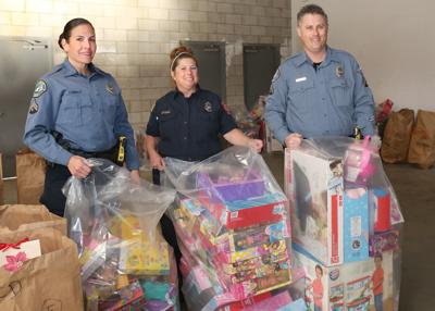 collect donated Christmas gifts