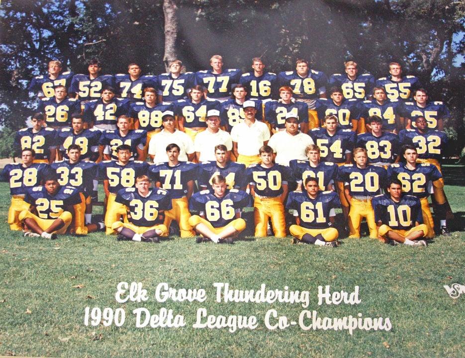 1990 Elk Grove High School Delta League co-championship team