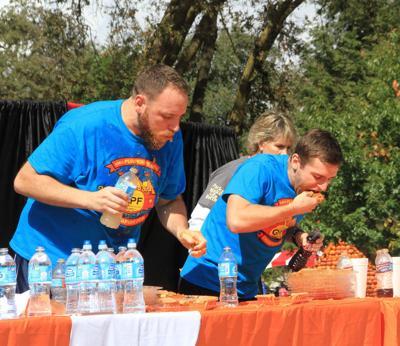 Joey Chestnut wins pumpkin pie-eating championship