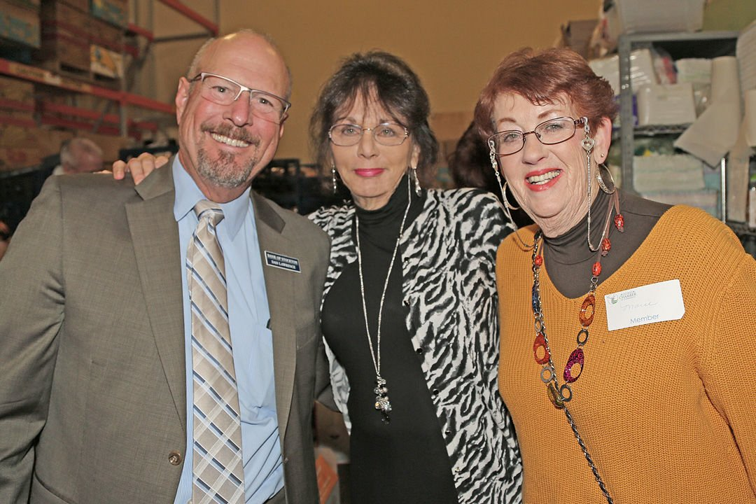 Marie Jachino (center) with Dan Lawrence and Marie Coleman