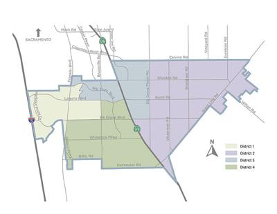 map of  Elk Grove district boundaries