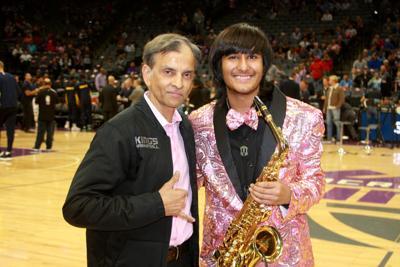 Neil Nayyar and Sacramento Kings owner Vivek Ranadivé