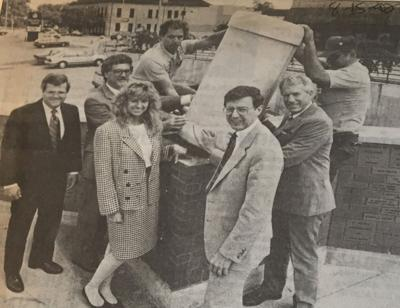 Elkhart Truth time capsule buried at Civic Plaza, Aug. 15, 1992