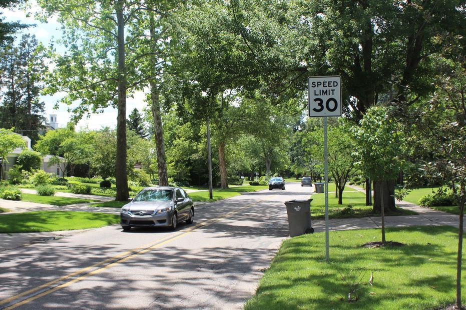 Greenleaf Boulevard cars speed limit
