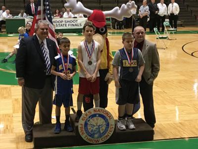 Tyson Chupp of Goshen wins Indiana Elks Hoop Shoot state title