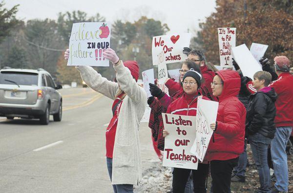 Teachers demand attention
