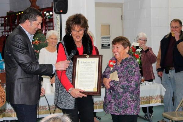 Bristol clerk-treasurer honored for service