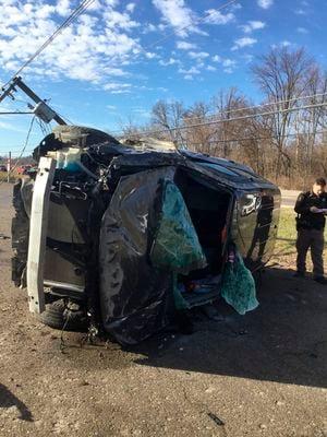 Three Rivers man crashes to avoid dog