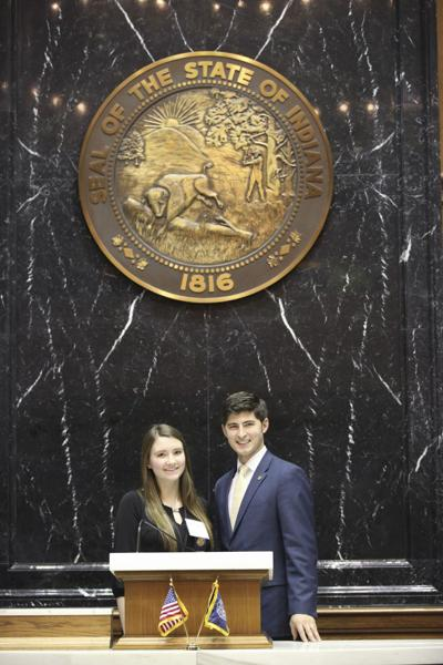 NorthWood High School student Delaney Shay serves as state representative Tim Wesco's page