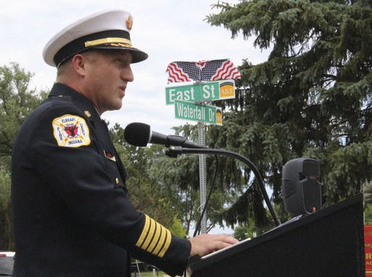 East Street in Elkhart gets honorary name paying tribute to city's first fallen firefighter