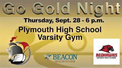 Plymouth, Goshen volleyball teams 'Going Gold' for cancer awareness