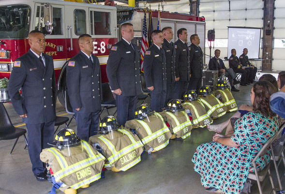 Elkhart Fire Department adds 7 members during Rookie Class Graduation Ceremony