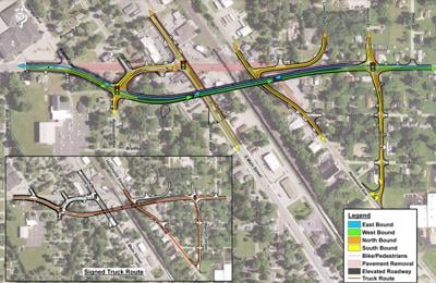Hively railroad overpass traffic flow