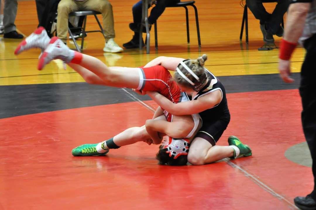 Riley Horvath wrestles for Jimtown
