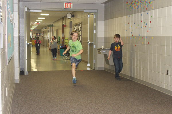 A time for running the halls at school