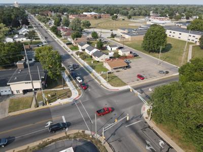Benham Avenue and Lusher Avenue intersection drone