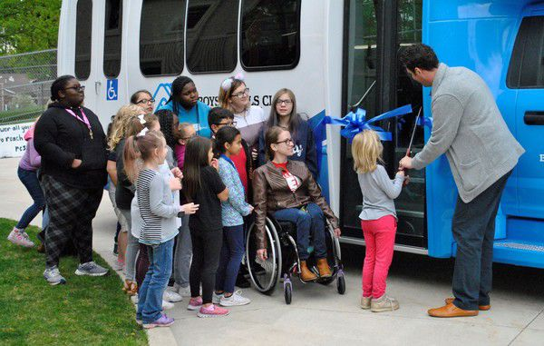 All-inclusive Boys & Girls Clubs bus arrives