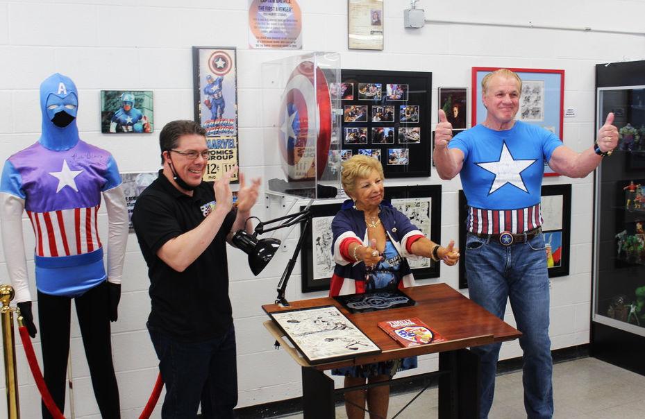 Captain America 80th anniversary Allen Stewart, Roz Bellman, Reb Brown, Hall of Heroes