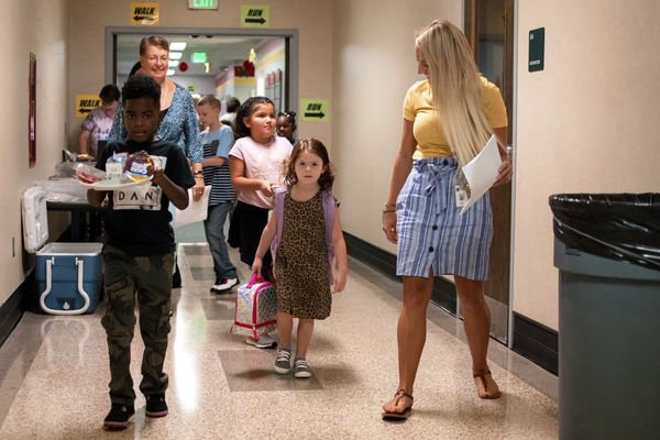 Elkhart students return for first day of school