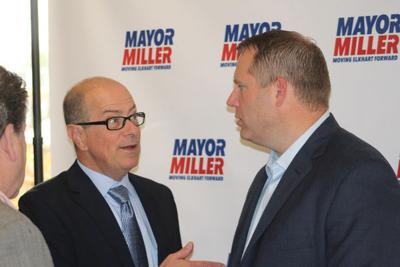 GOP state chair stumps for mayoral candidate