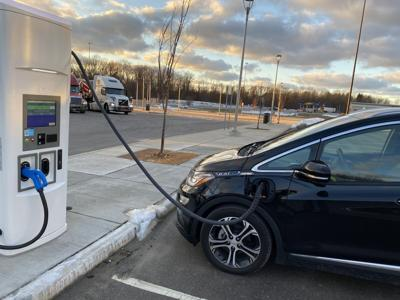 Electric charging stations file photo