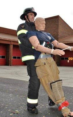 Firefighters join fitness competition