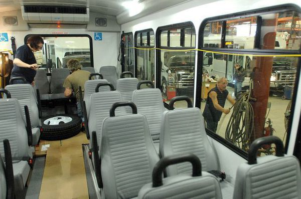 Forest River giving away shuttle bus