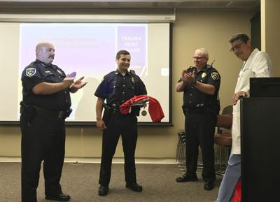 Elkhart officer recognized for saving motorcyclist's life