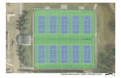 Goshen Schools moves to renovate tennis courts