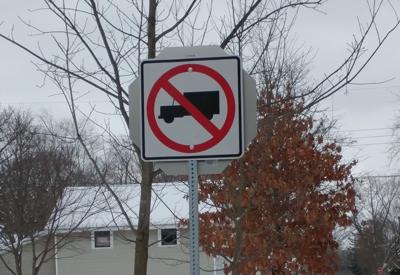 No-truck sign