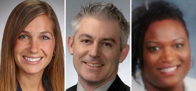 Carolyn Lesperance, Tim Pedley and DeVetta Farrow