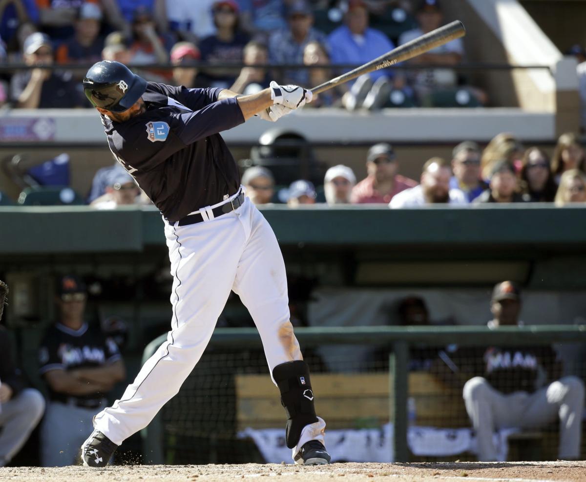 Kinsler has 4 RBIs, Martinez homers as Tigers top Marlins