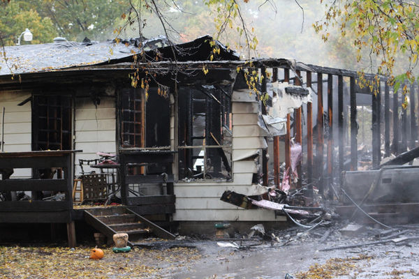 Family awakes to house in flames