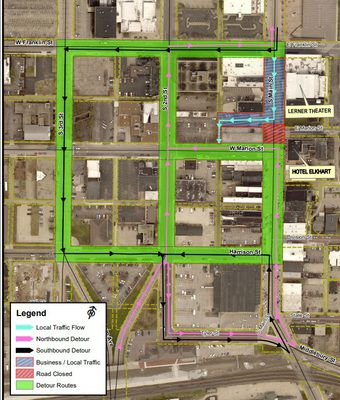 South Main to be closed 2 weeks for Hotel Elkhart work