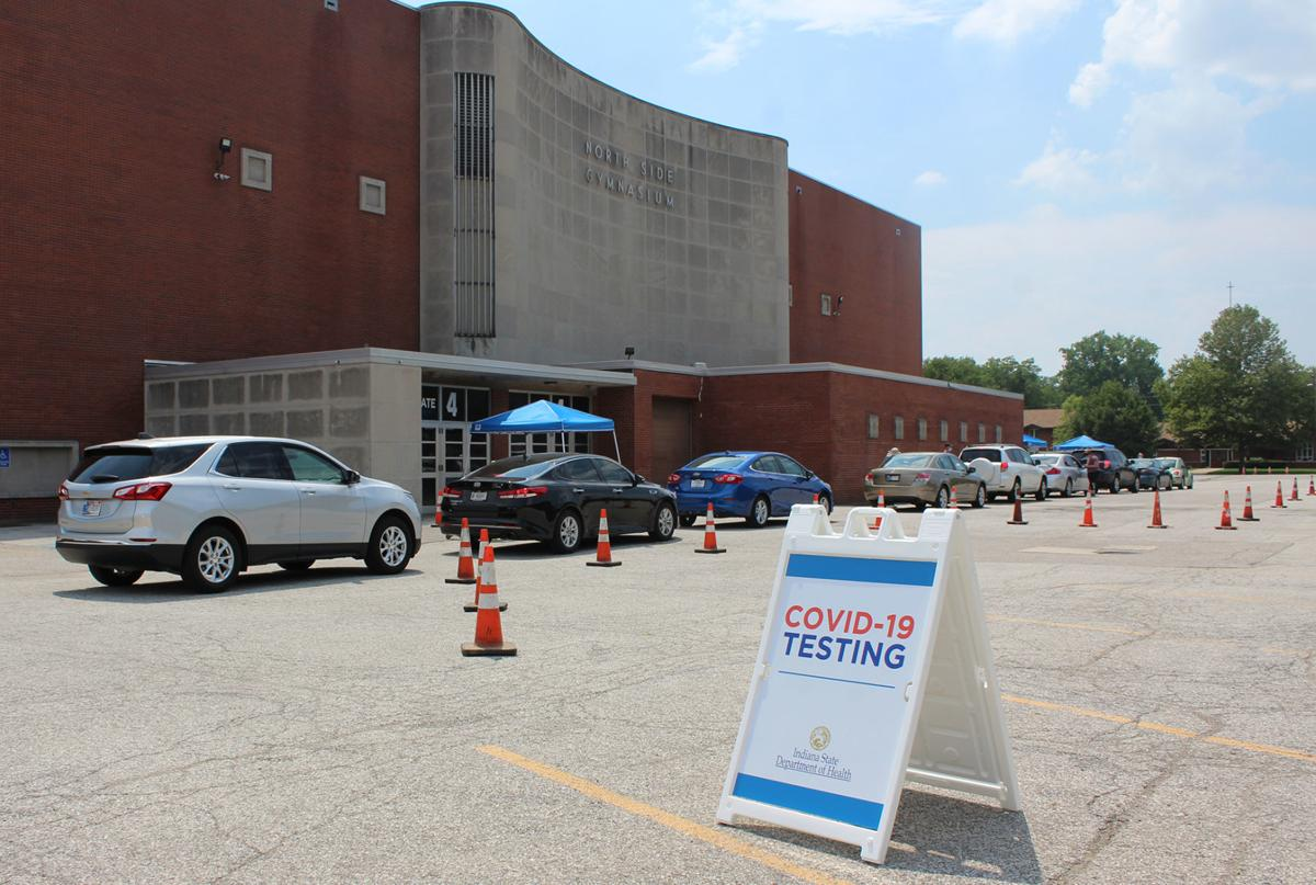 COVID testing site in Elkhart