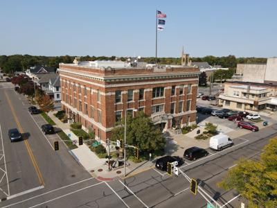 Elkhart City Hall drone