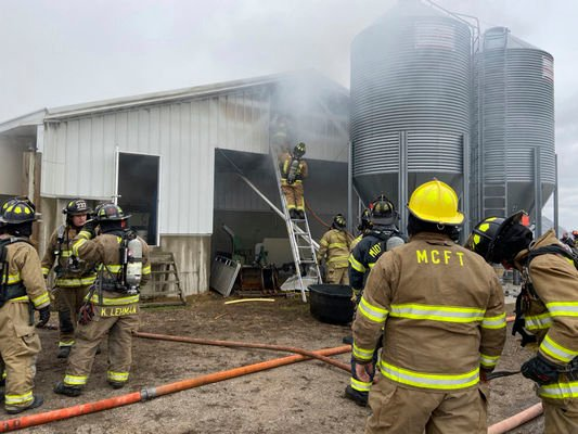 Barn 'total loss' after fire