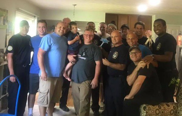 Firefighters honor fallen 4-year-old