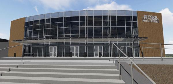Construction work underway on Beickman Performing Arts Center