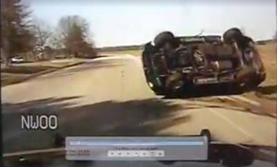 Watch police chase involving two Elkhart men that ends with PIT maneuver, crash