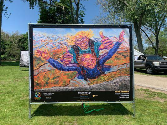 Outdoor art exhibit celebrates diversity