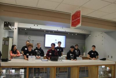 Student tech team on the job