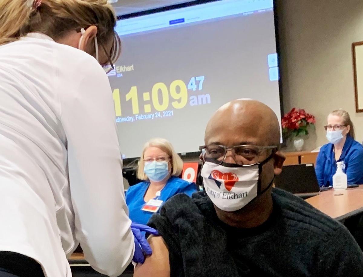 Mayor Rod Roberson gets COVID-19 vaccine 2, provided