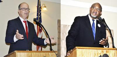 Debate cut short after candidate falls