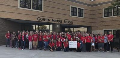 Goshen schools closed for Red for Ed event