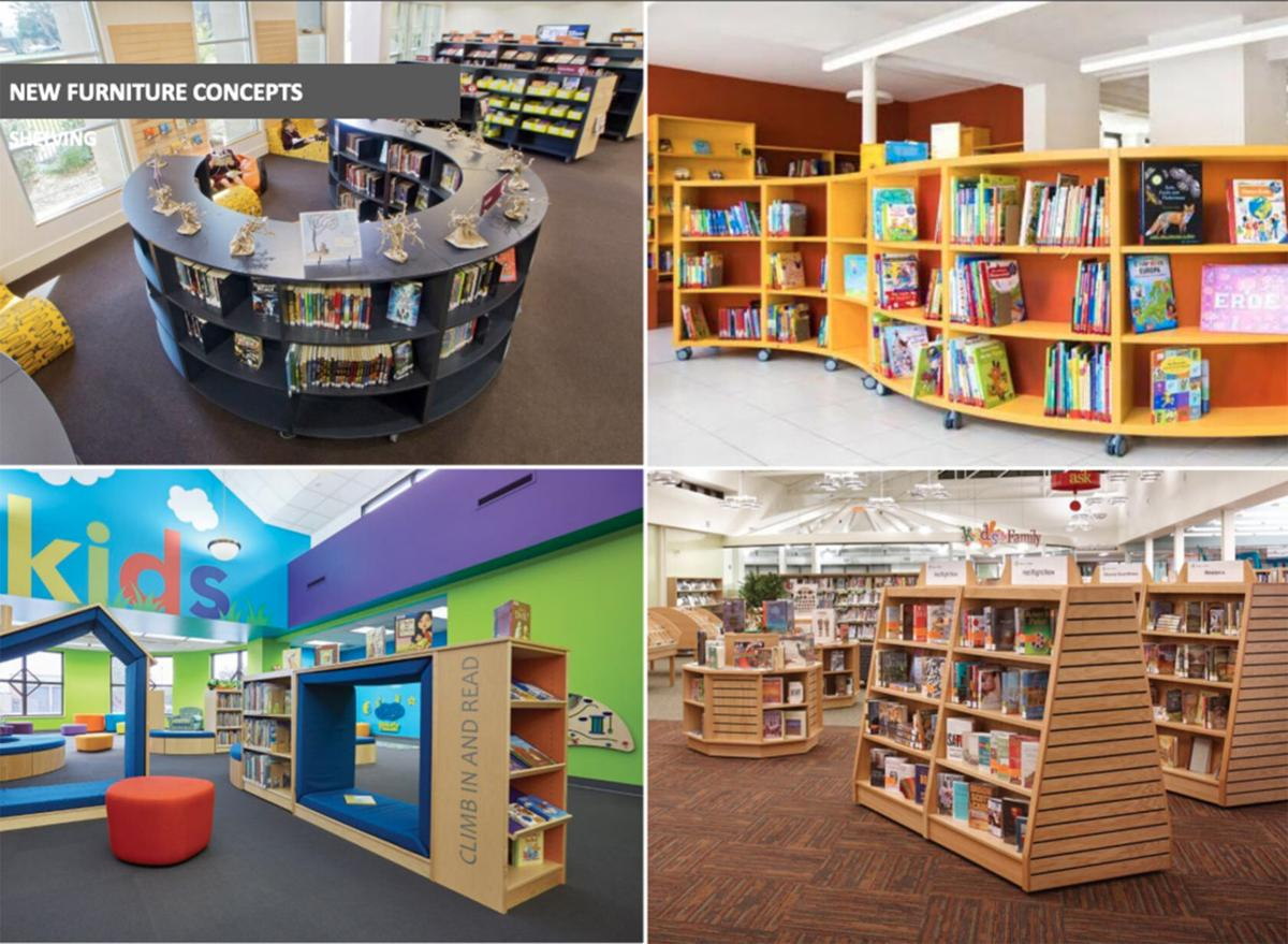 Elkhart Public Library renovation furniture concepts