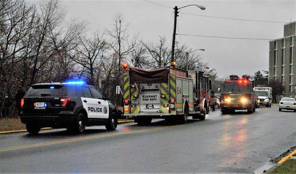 Man hospitalized after entering drainage port