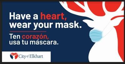 Elkhart mask billboard