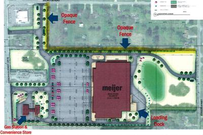 Meijer Cassopolis Street site plan